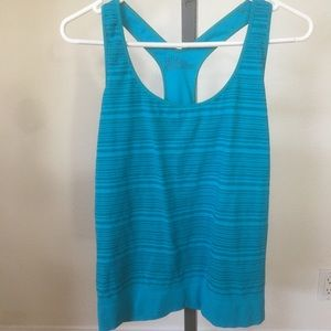 Zella Activewear teal racer back top